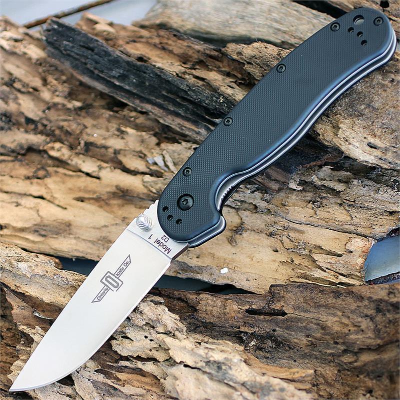 Фото 10 - Нож складной OKC RAT I, сталь D2, рукоять термопластик GRN, черный от Ontario
