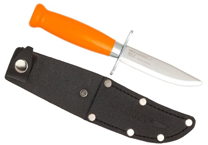 Фото 6 - Нож с фиксированным лезвием Morakniv Scout 39 Safe Orange, сталь Sandvik 12C27, рукоять береза, оранжевый