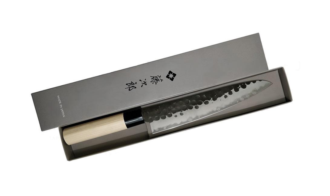 Фото 6 - Нож Поварской Tojiro Hammered Finish, F-1115, сталь VG-10, чёрный, в картонной коробке