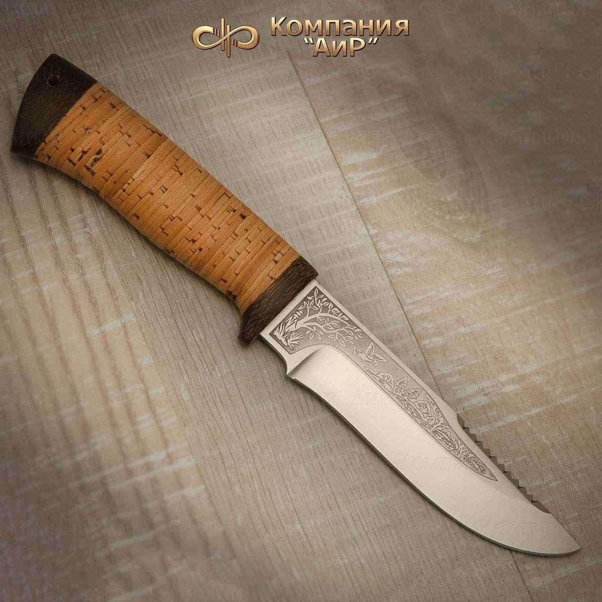 Нож АиР Стрелец, сталь Elmax, рукоять береста