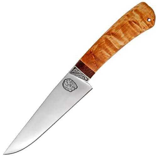 Нож Барибал 95х18, карельская береза, АиР нож барибал 95х18 орех аир