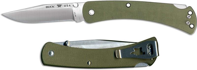 Фото 10 - Складной нож Buck Folding Hunter Slim Pro 0110ODS4, сталь S30V, рукоять микарта