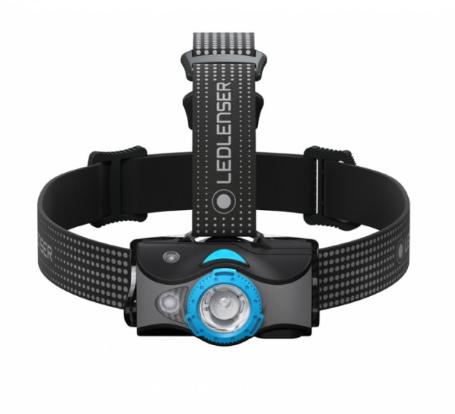 Фото - Фонарь светодиодный налобный LED Lenser MH7, черно-голубой, 600 лм фонарь светодиодный led lenser iw5r flex 600 лм