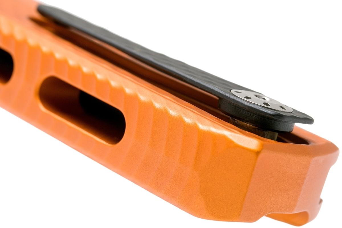 Фото 9 - Нож складной LionSteel ROK A OB, сталь Black (Mil Spec) Finish Bhler M390, рукоять алюминий, оранжевый от Lion Steel