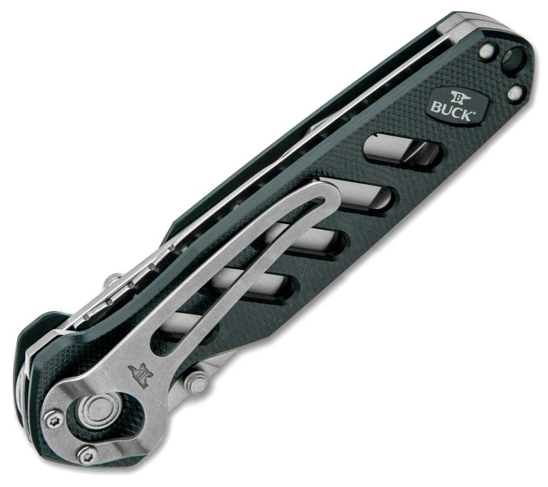 Фото 7 - Нож складной 183 Alpha Crosslock - BUCK 0183GRS, сталь 420HC, рукоять алюминий, зеленый