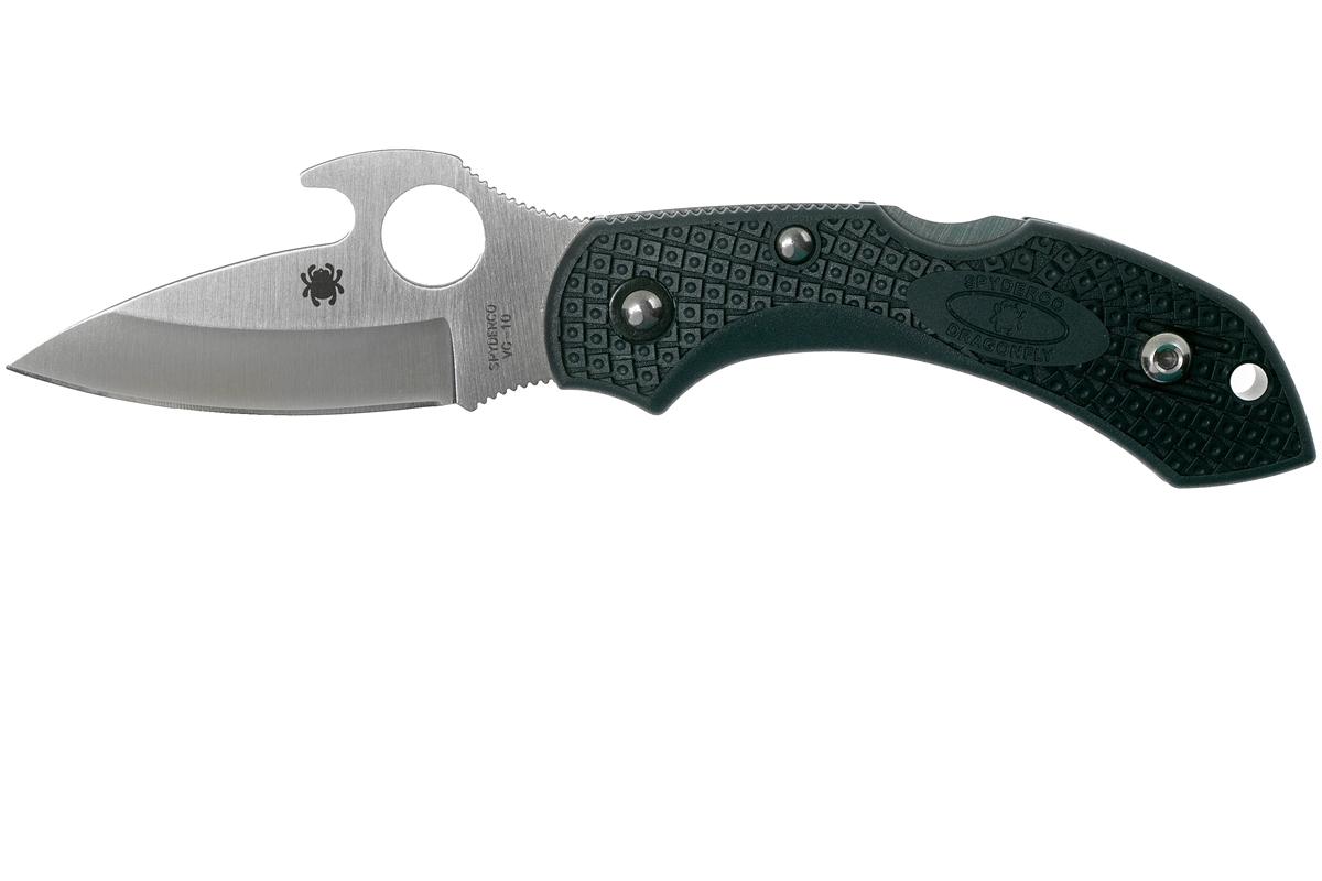 Фото 4 - Складной нож Dragonfly 2 Emerson Spyderco C28PGYW2, сталь VG-10 Satin Plain, термопластик FRN, чёрный