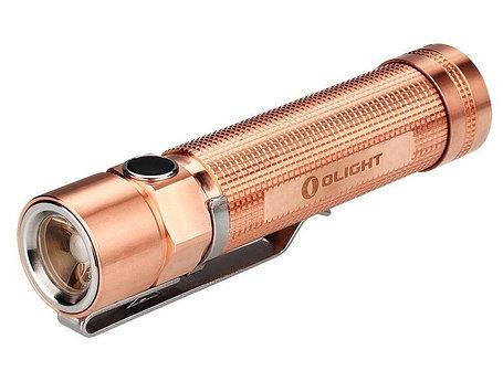 Фонарь Olight S2-CU Raw Copper, золотой