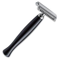 Станок для бритья Böker Safety Razor Edelharz schwarz, нержавеющая сталь/текстолит, 04BO148, фото 1