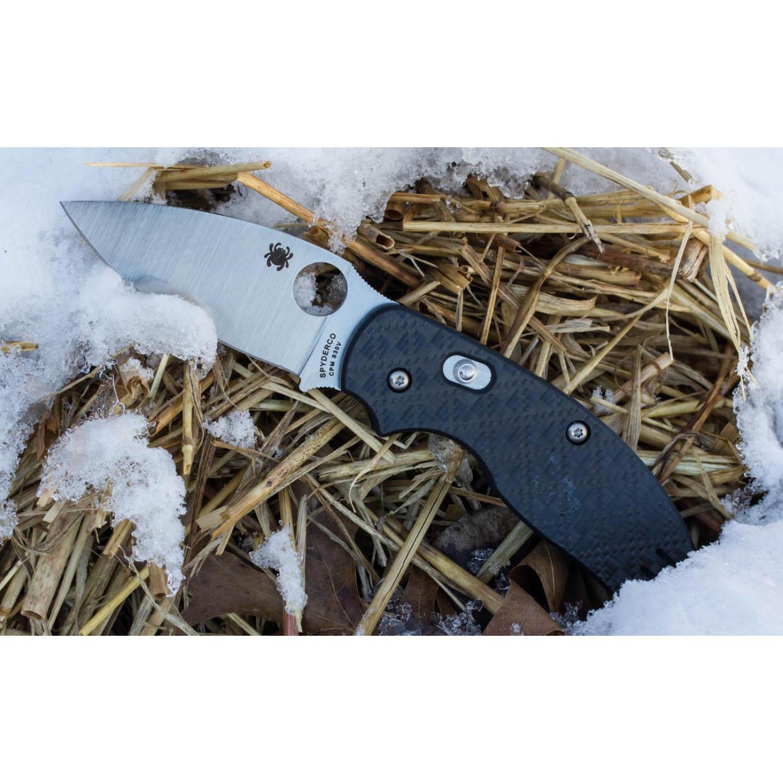 Фото 9 - Нож складной Sage 3 - Spyderco 123CFBAP, сталь Crucible CPM® S30V™ Satin Plain, рукоять карбон/стеклотекстолит G10, чёрный