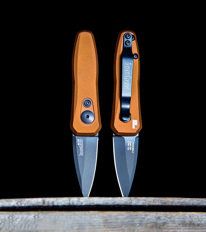 Фото 3 - Складной автоматический нож Kershaw Launch 4 Bronze K7500EBBLK, сталь CPM 154, рукоять алюминий