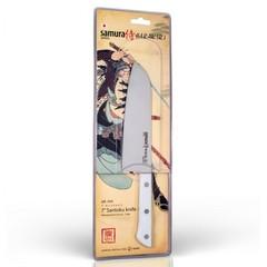 "Нож кухонный овощной сантоку Samura ""HARAKIRI"" (SHR-0095W) 175 мм, сталь AUS-8, рукоять ABS пластик, белый, фото 3"