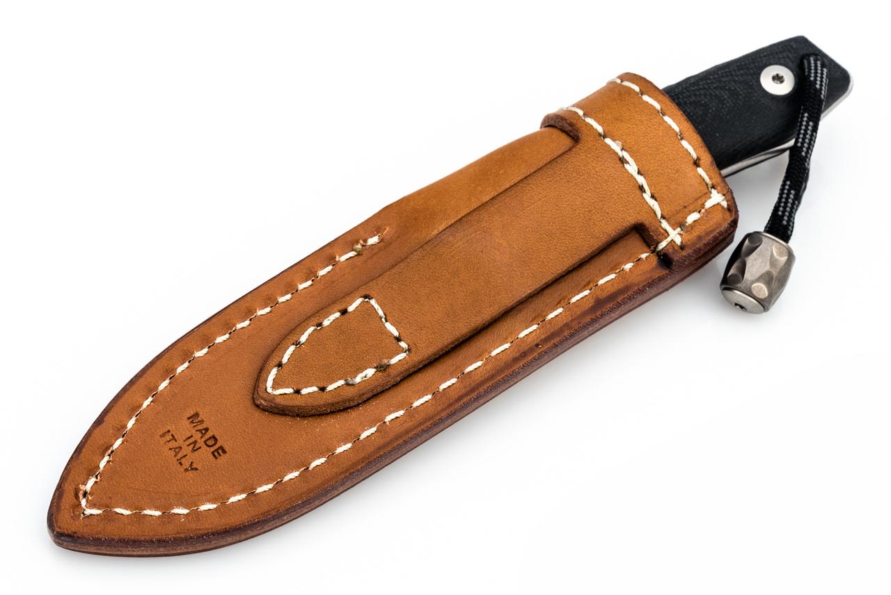 Фото 15 - Нож с фиксированным клинком LionSteel M1 GBK, сталь M390, рукоять G10, черный от Lion Steel