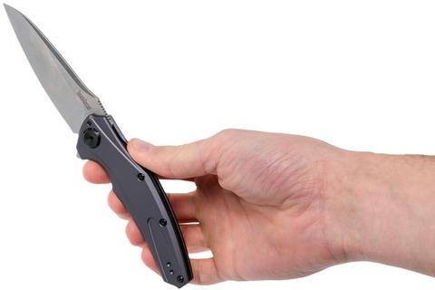 Нож складной Bareknuckle - Kershaw 7777, сталь Sandvik 14C28N, рукоять серый анодированный алюминий. Вид 11
