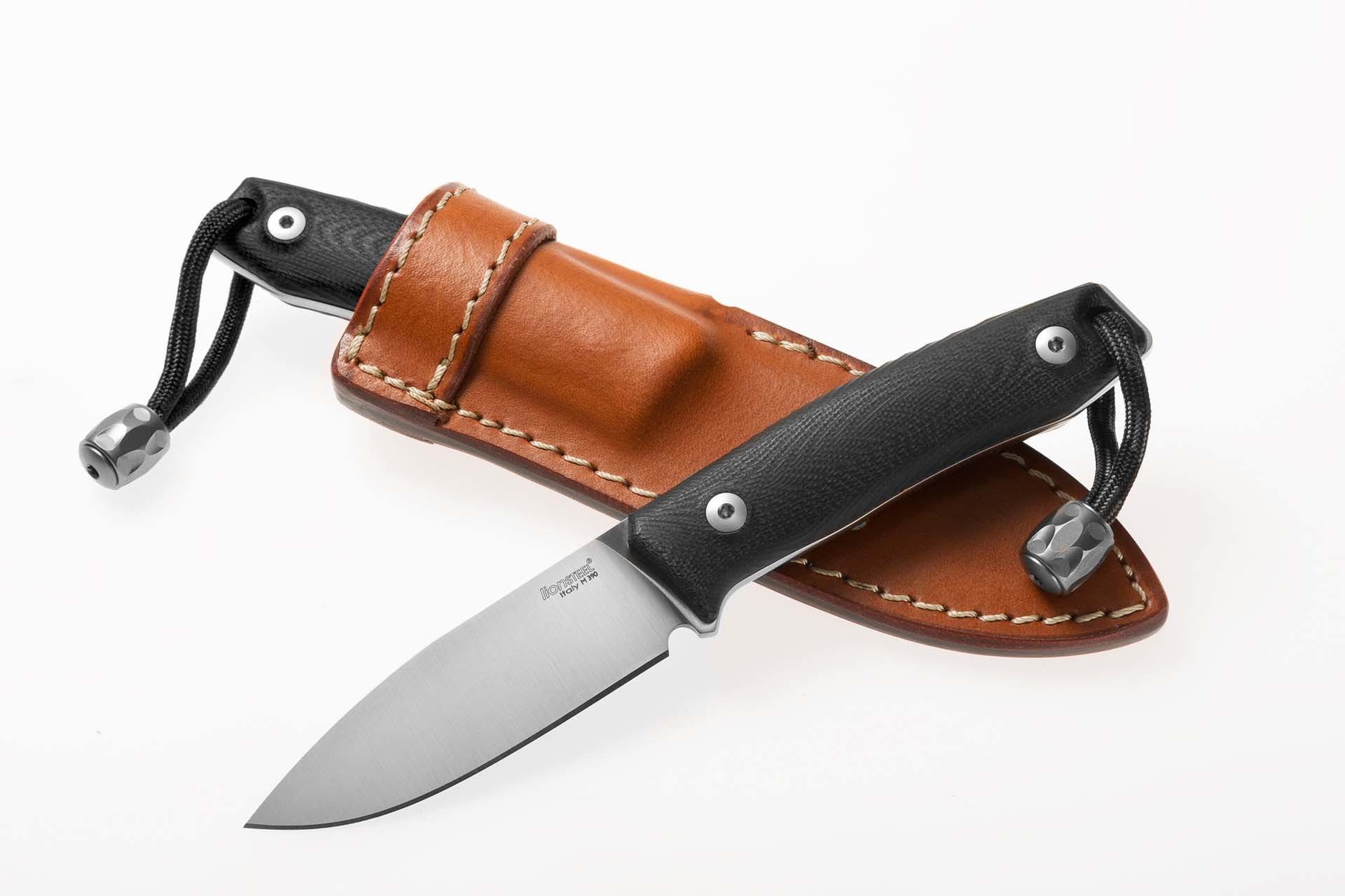 Фото 14 - Нож с фиксированным клинком LionSteel M1 GBK, сталь M390, рукоять G10, черный от Lion Steel