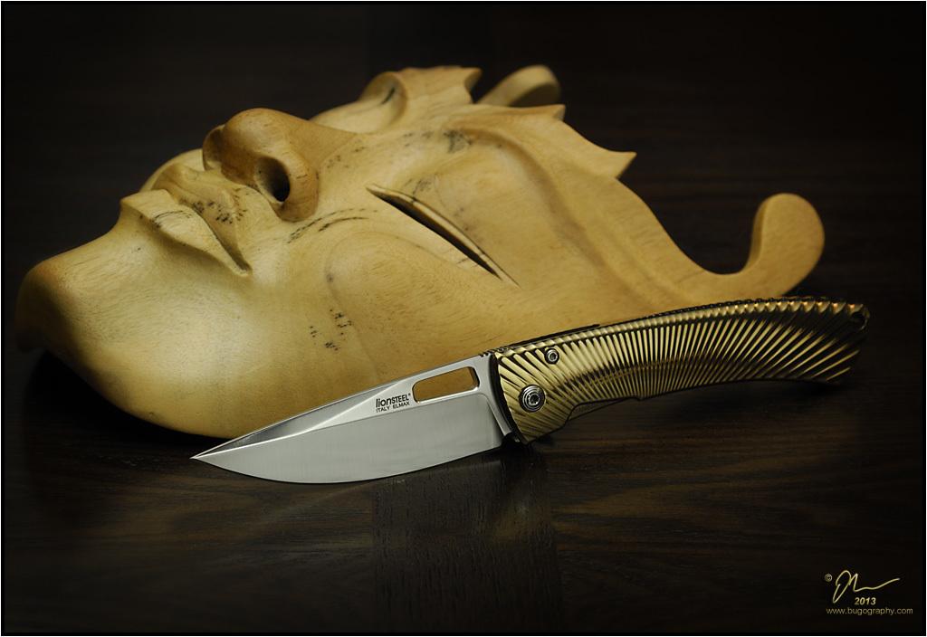 Фото 5 - Нож складной LionSteel TS1 BM, сталь M390, рукоять титан от Lion Steel