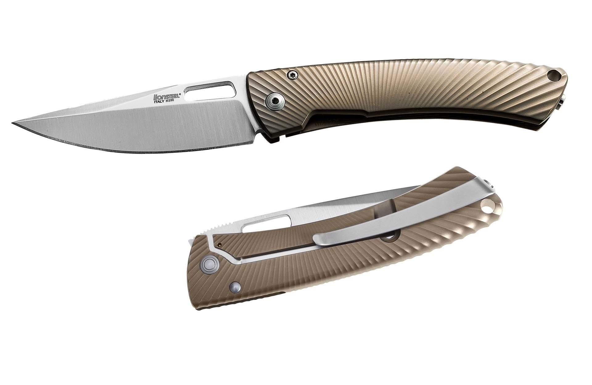 Фото 2 - Нож складной LionSteel TS1 BM, сталь M390, рукоять титан от Lion Steel