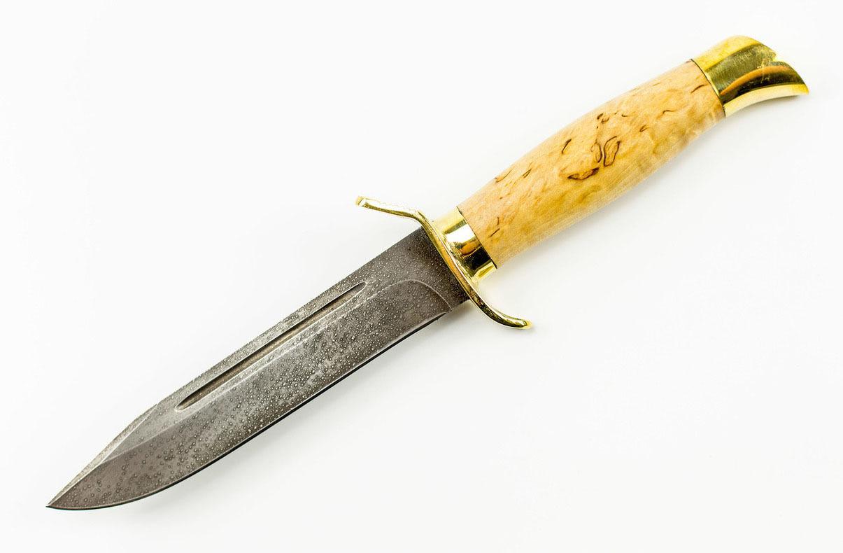 Фото 12 - Нож НР-40, сталь ХВ5, карельская береза от Промтехснаб