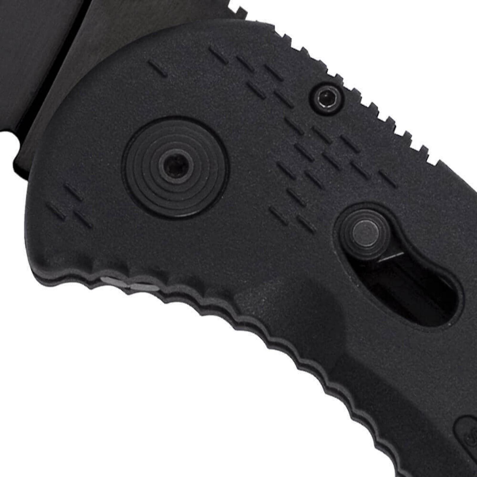 Фото 13 - Складной нож с фиксатором Aegis Black 8.9 см. - SOG AE02, сталь AUS-8, рукоять пластик GRN