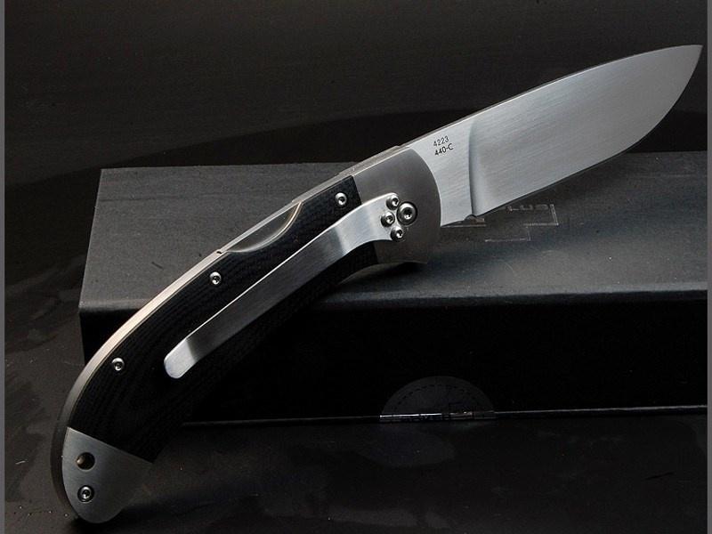 Фото 15 - Нож складной 3000 Lightweight Boker Plus 01BO187, сталь 440С Satin Plain, рукоять титан/стеклотекстолит G10, чёрный