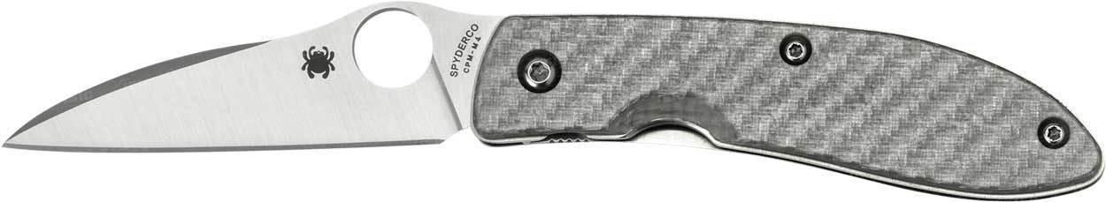 Фото 9 - Нож складной Air™ (дизайнер Gayle Bradley) Spyderco 159GFP, сталь CPM-M4 Satin Plain, рукоять термопластик/титан серый