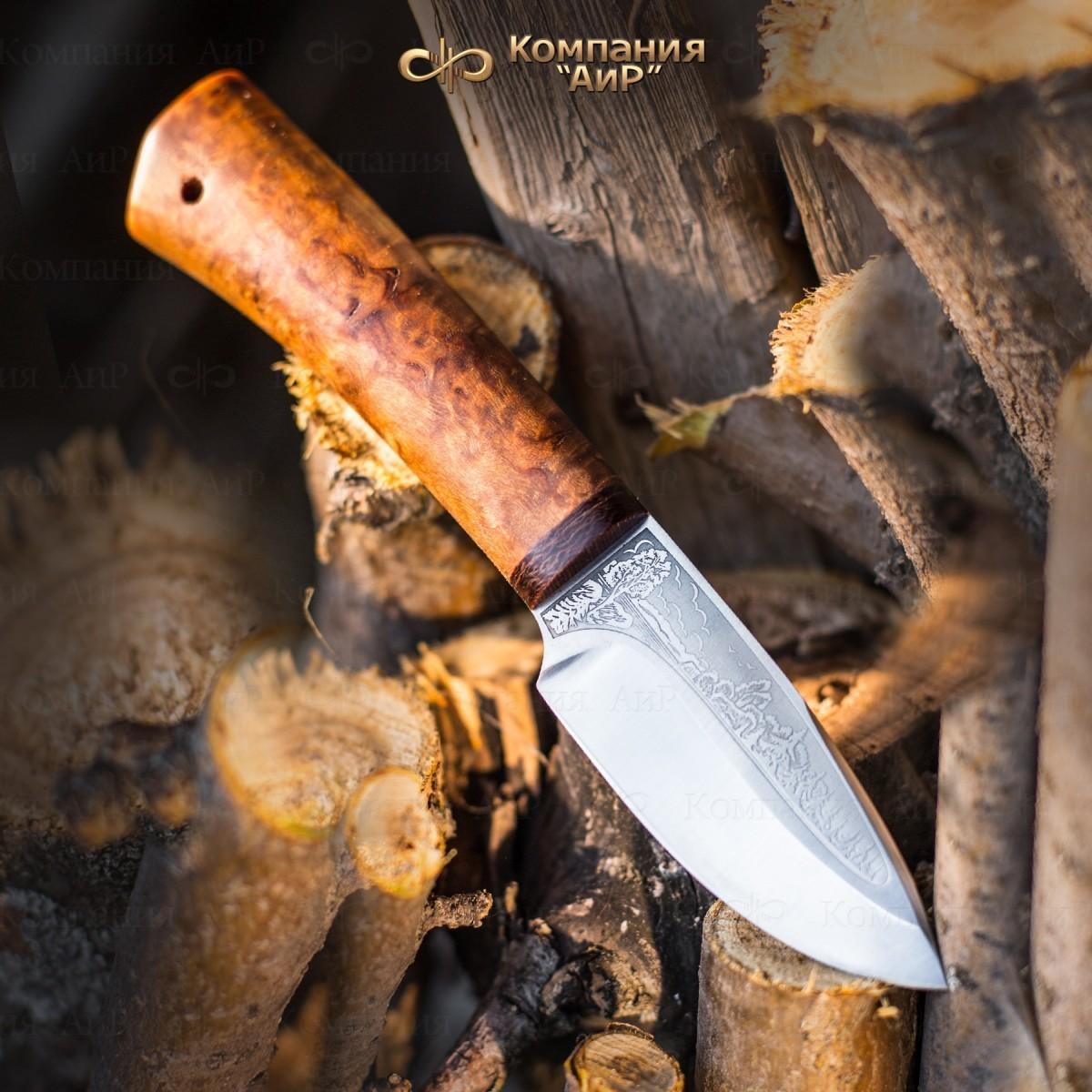 Нож разделочный АиР Добрый, сталь 100х13м, рукоять карельская береза нож разделочный скинер карельская береза 100х13м аир