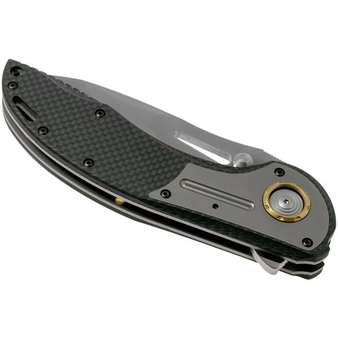 Складной нож CRKT XOC, сталь CTS-XHP, рукоять Carbon Fiber. Вид 5