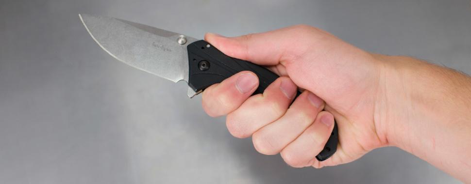 Фото 6 - Складной полуавтоматический нож Kershaw Knockout K1870, сталь Sandvik 14C28N, рукоять алюминий