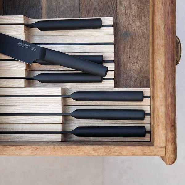 Органайзер для хранения ножей Ron 385 мм, BergHOFF, 3900020, дерево, коричневый