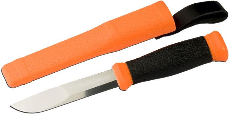 Фото 5 - Нож с фиксированным лезвием Morakniv Outdoor 2000 Orange, сталь Sandvik 12C27, рукоять резина/пластик