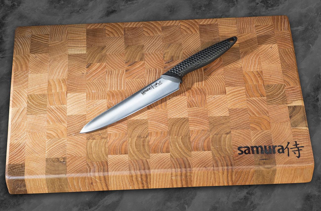Фото 5 - Нож кухонный Samura GOLF универсальный 158 мм, AUS-8