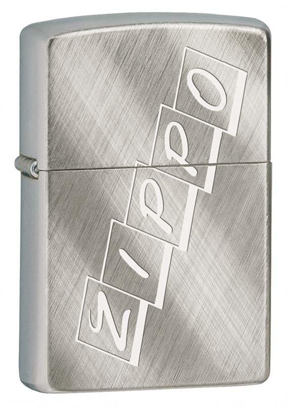Фото 3 - Зажигалка ZIPPO, латунь с покрытием Brushed Chrome, серебристая, матовая, 36x12x56 мм