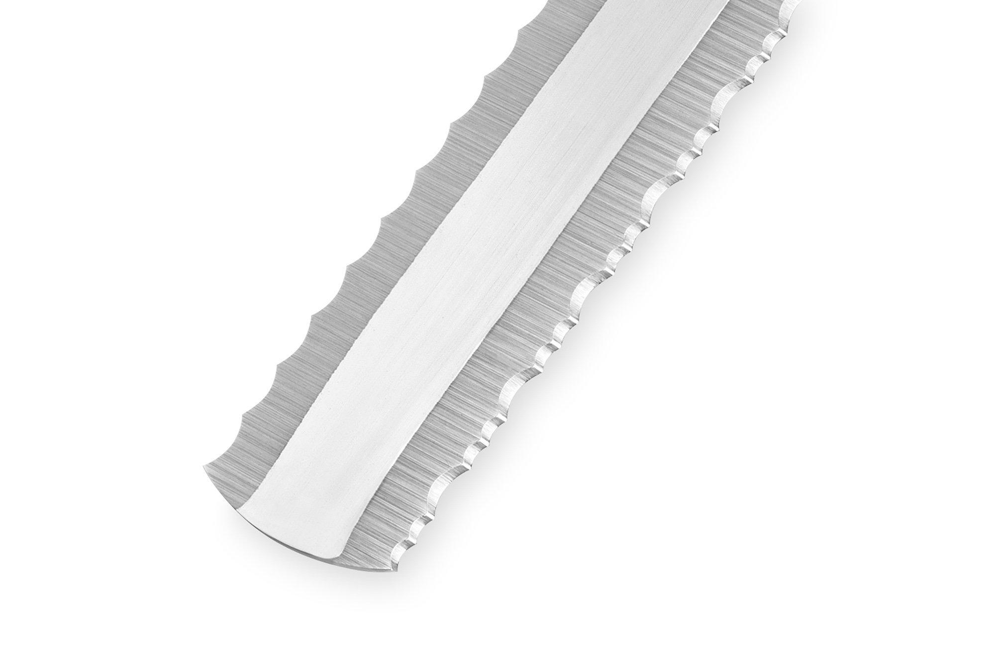 Фото 6 - Нож для замороженных продуктов Samura Harakiri SHR-0057W, сталь AUS-8, рукоять ABS пластик