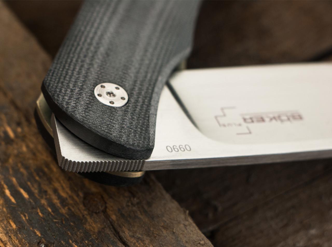 Фото 12 - Складной нож Exskelibur 1 VG-10, Boker Plus 01BO032, сталь VG-10 Satin Plain, рукоять стеклотекстолит G10, чёрный