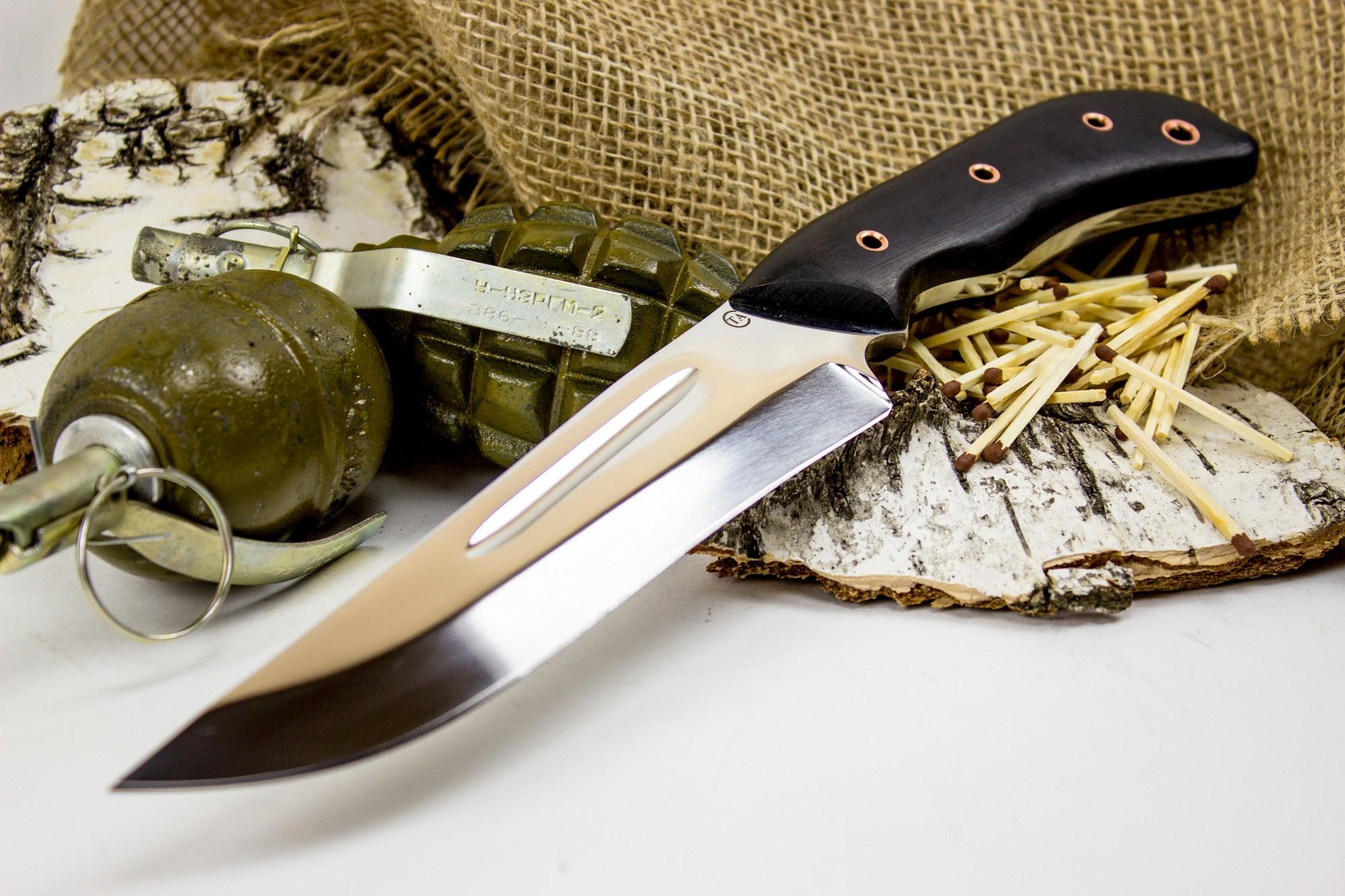 Фото 6 - Нож Гарпун-1, сталь 95х18, венге от Титов и Солдатова