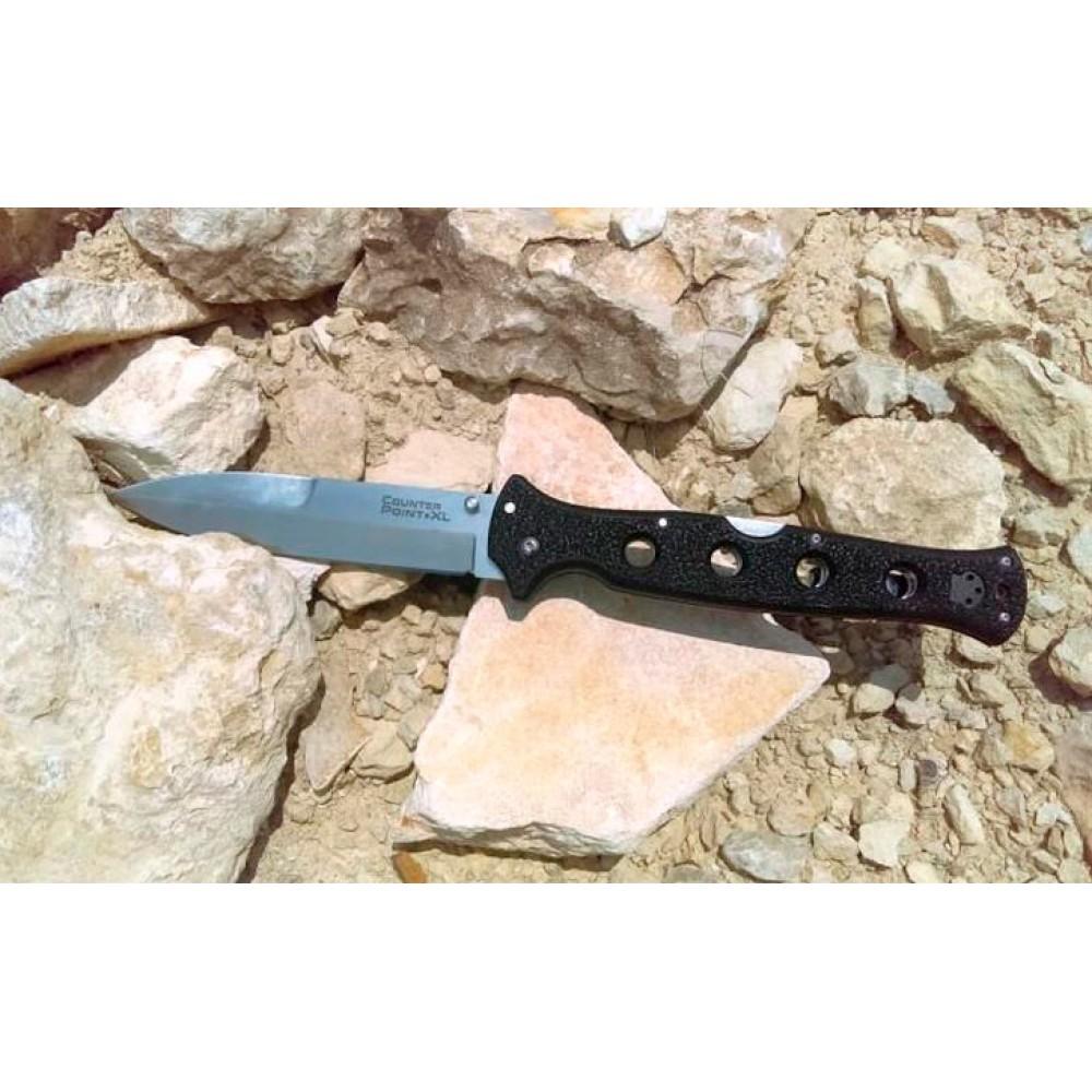 Фото 8 - Складной нож Counter Point XL - Cold Steel 10AA, сталь AUS 10A, рукоять Griv-Ex™ (высококачественный пластик)