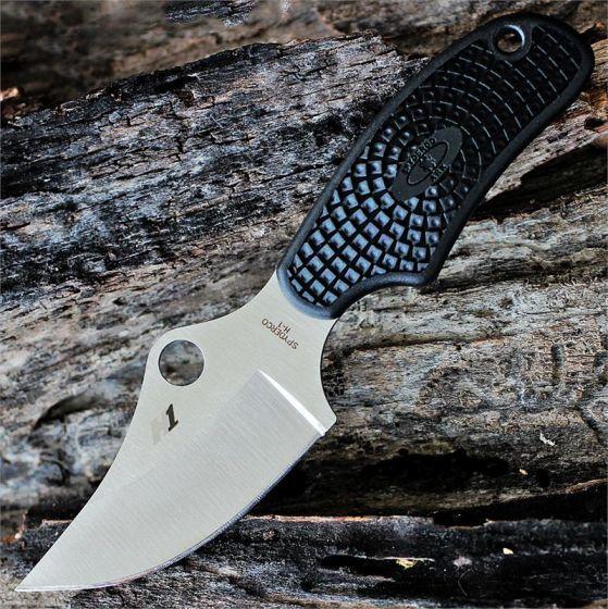 Фото 4 - Нож с фиксированным клинком ARK (Always Ready Knife) Spyderco FB35PBK, сталь H1 Satin Plain, рукоять термопластик FRN, чёрный