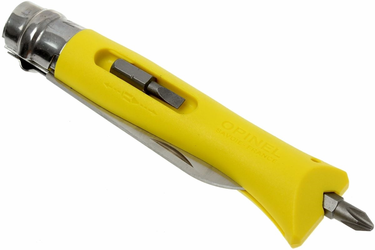 Фото 13 - Нож складной Opinel №9 VRI DIY Yellow, сталь Sandvik 12C27, рукоять термопластик, желтый, 001804