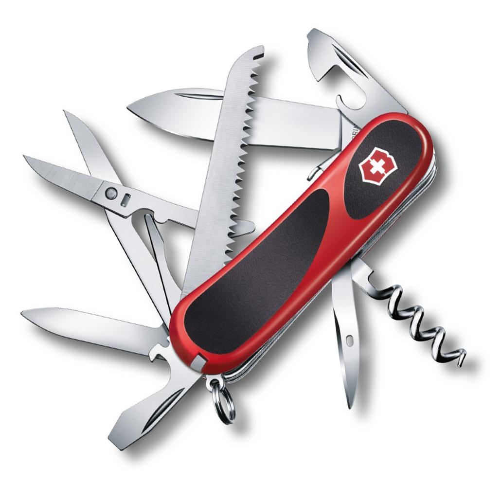 Нож перочинный Victorinox EvoGrip S17 2.3913.SC 85мм 15 функций красно-чёрный