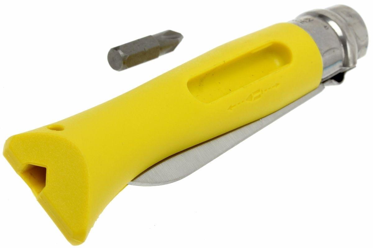 Фото 14 - Нож складной Opinel №9 VRI DIY Yellow, сталь Sandvik 12C27, рукоять термопластик, желтый, 001804