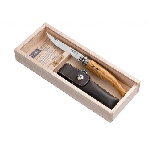 Нож складной филейный Opinel №10 VRI Folding Slim Olivewood в деревянном кейсе - Nozhikov.ru