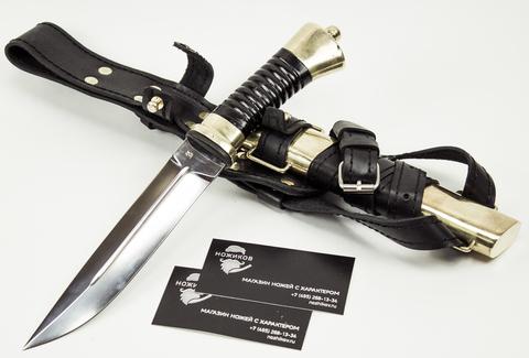 Нож Пластунский, малый, сталь Х12МФ, латунь - Nozhikov.ru