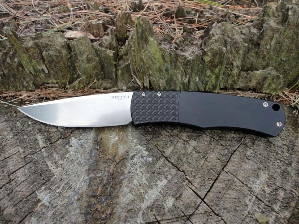 Фото 5 - Автоматический складной нож Pro-Tech Magic BR-1.3, сталь 154CM, рукоять алюминий, черный