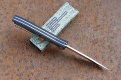 Складной Нож Разведчика, карбон синий, фото 3