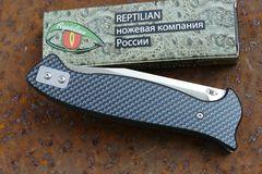 Складной Нож Разведчика, карбон синий, фото 4