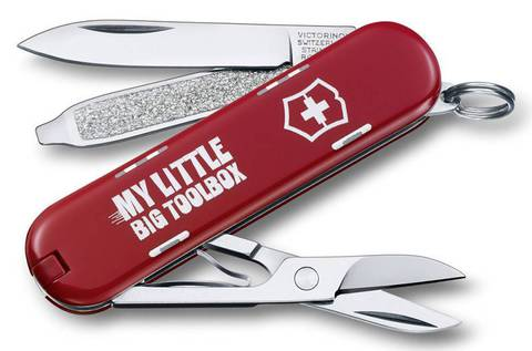 Нож перочинный Victorinox Classic My little big toolbox 0.6223.L1404 58мм 7 функций дизайн Мой ящ - Nozhikov.ru