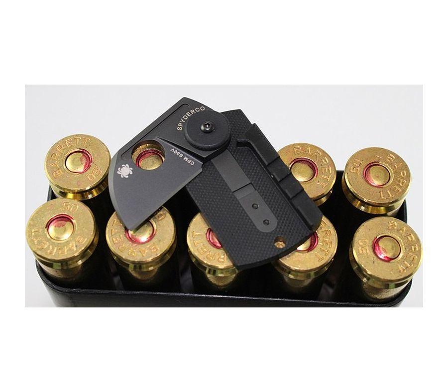 Фото 12 - Складной нож-брелок Dog Tag Folder Black - Spyderco 188CFBBKP, сталь CPM S30V TiNi coating, рукоять G10/карбон, чёрный