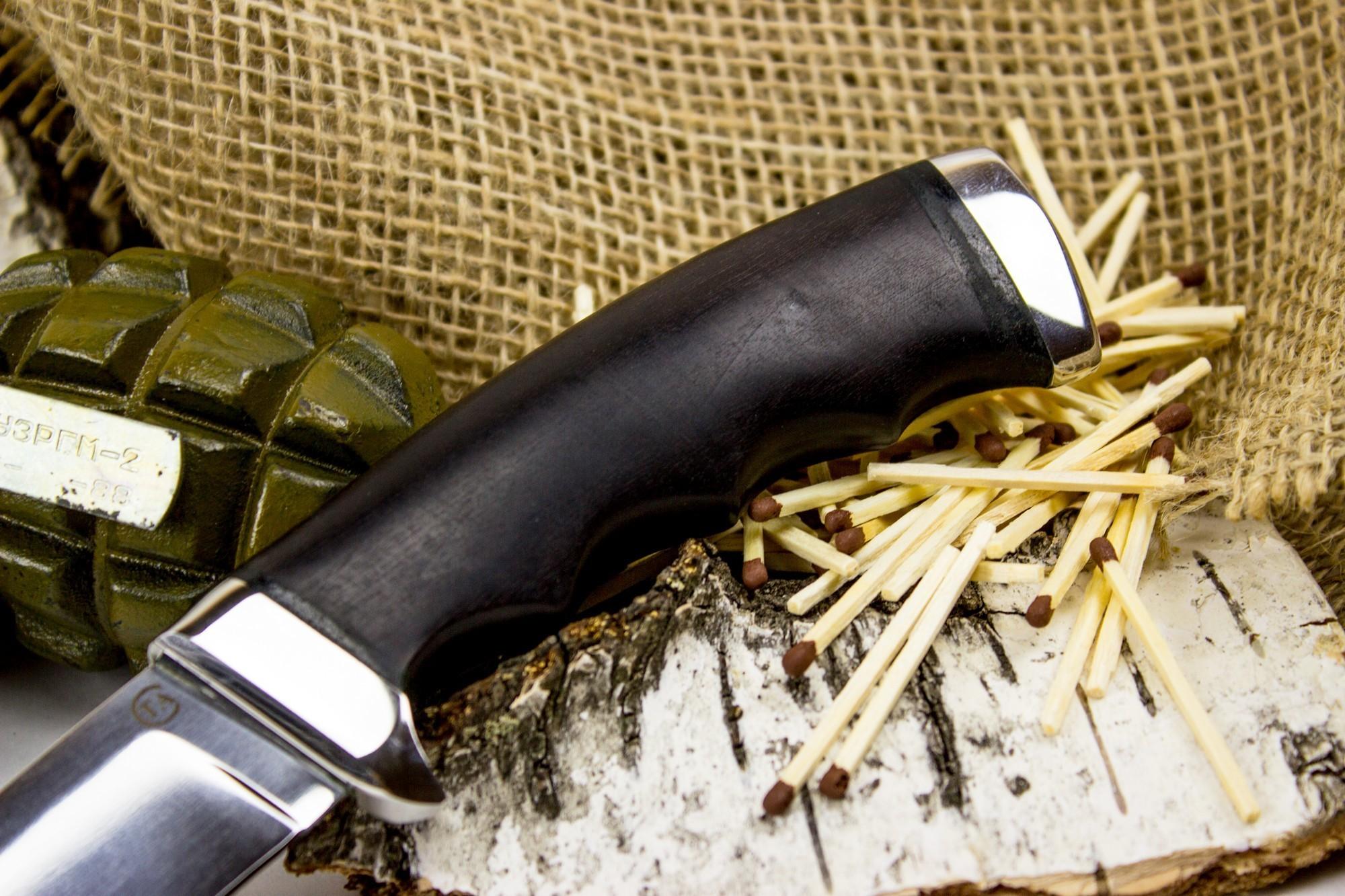 Фото 7 - Нож Кобра-3, сталь 95х18, дерево от Титов и Солдатова