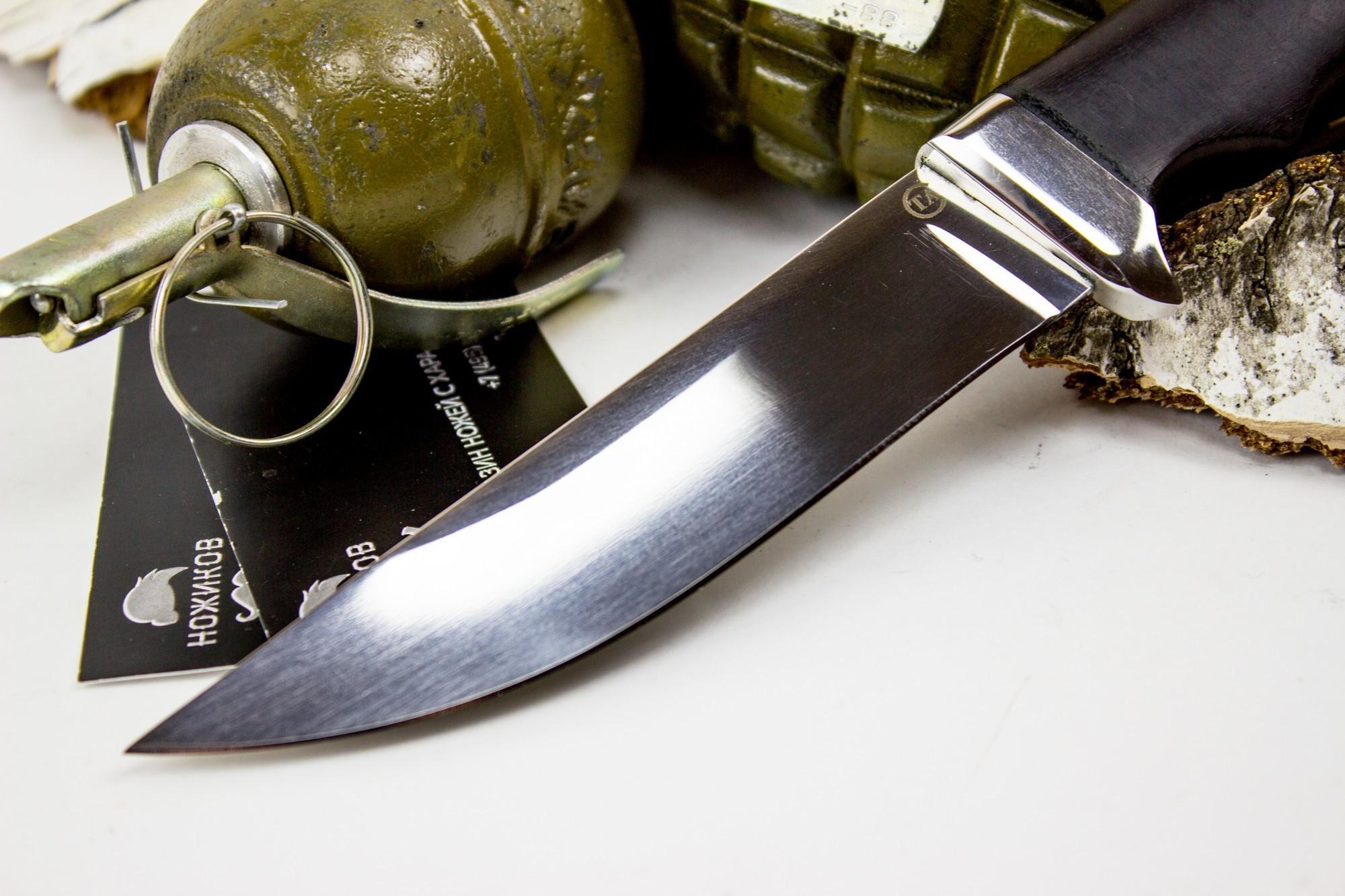 Фото 8 - Нож Кобра-3, сталь 95х18, дерево от Титов и Солдатова