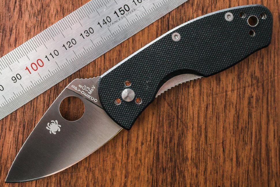 Фото 4 - Нож складной Ambitious Spyderco 148GP, сталь 8Cr13MOV Satin Plain, рукоять стеклотекстолит G-10, чёрный
