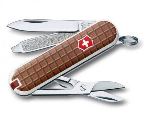 Нож перочинный Victorinox Classic The Chocolate 0.6223.842 58мм 7 функций дизайн Шоколад - Nozhikov.ru